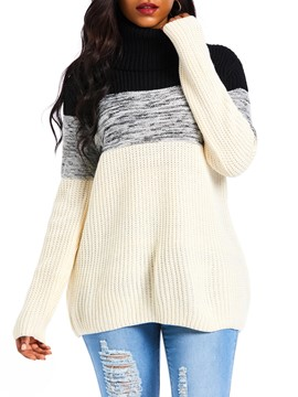 Ericdress Patchwork Long Sleeve Fall Sweater