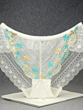 Ericdress Floral Embroidery Sexy Women's Panty