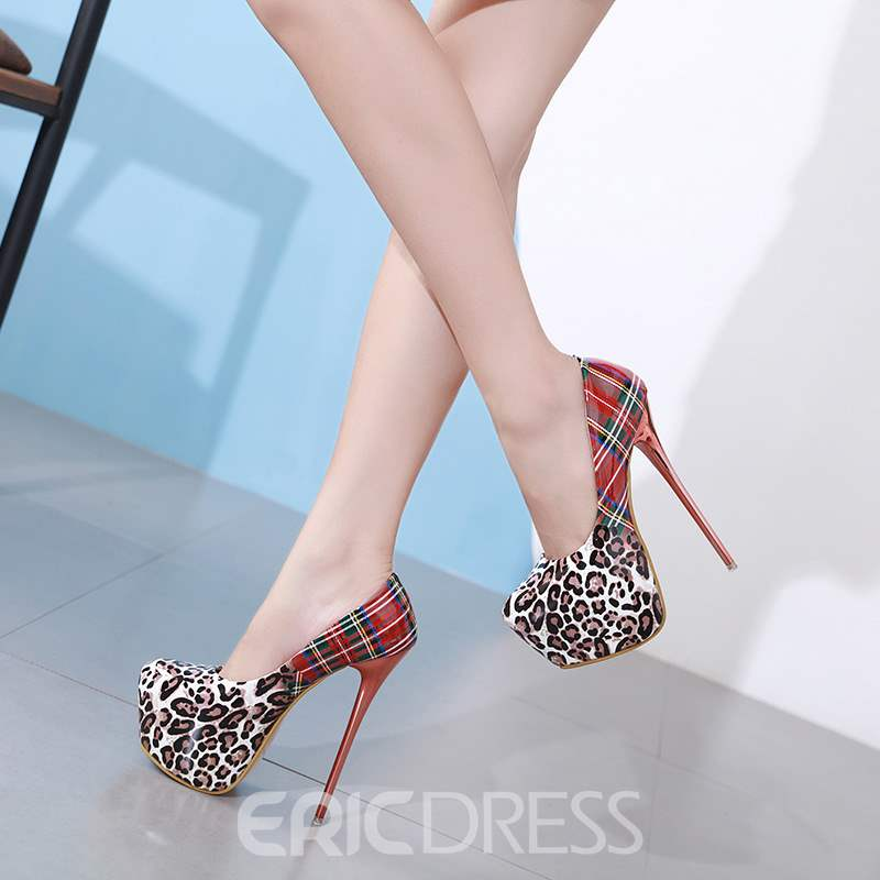 Ericdress Stiletto Heel Round Toe Platform Women's Pumps