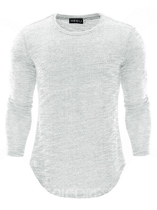 Ericdress Casual Round Neck Mens Slim T-shirt