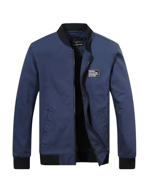 Ericdress Plain Stand Collar Mens Casual Jacket