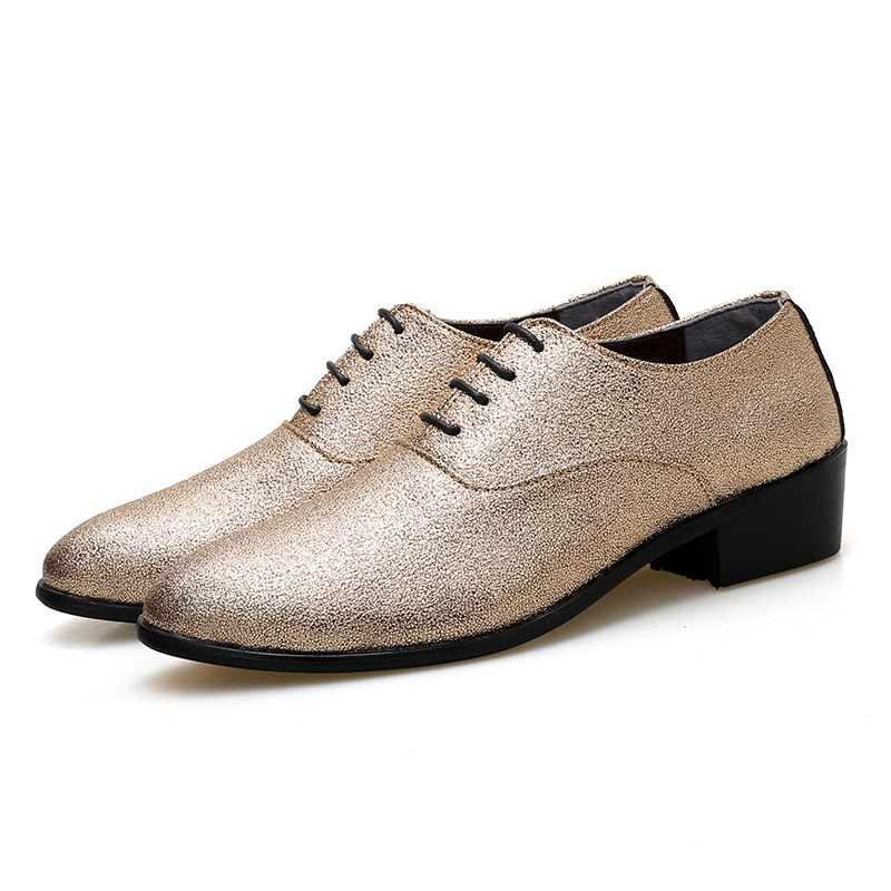 Ericdress Lace-Up Round Toe Men's Dress Shoes