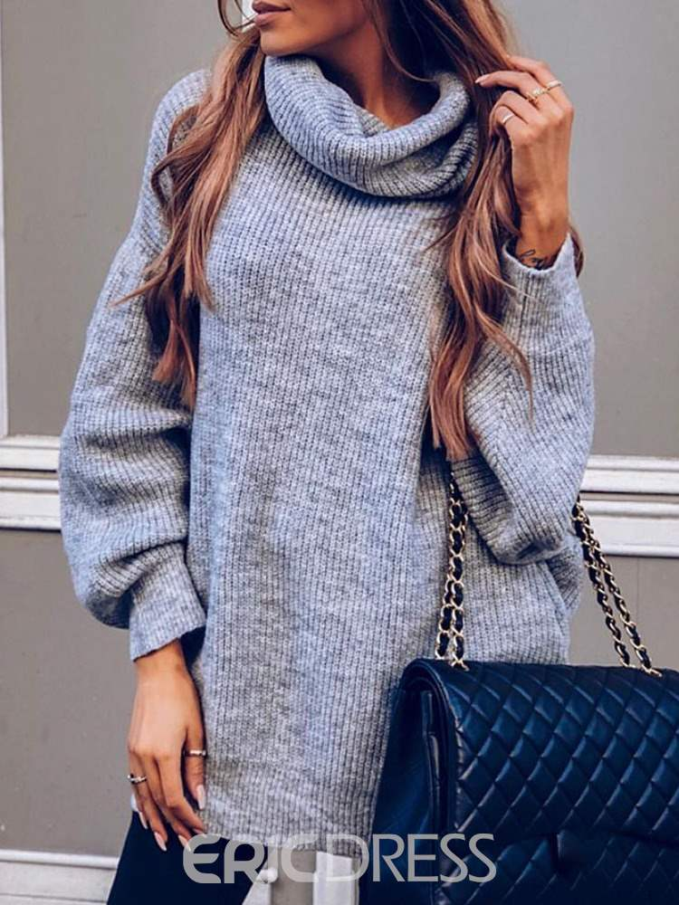 Ericdress Long Sleeve Mid-Length Sweater