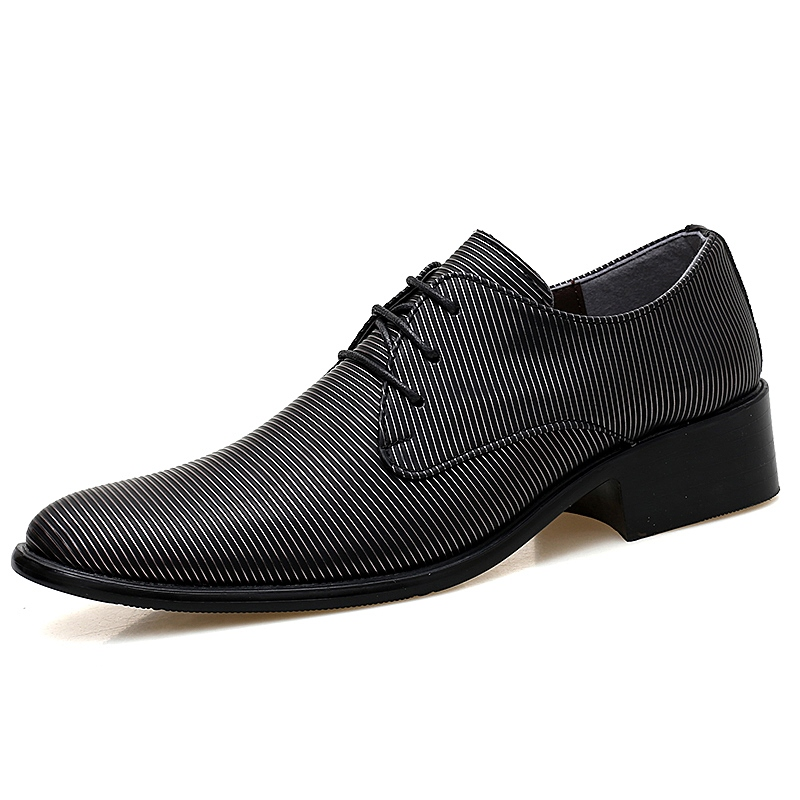 Ericdress Round Toe Lace-Up Men's Dress Shoes