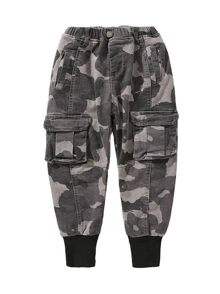 Ericdress Thick Camouflage Elastics Boys Pant