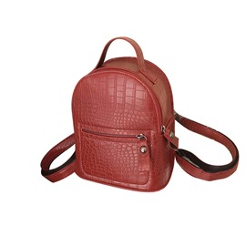 Ericdress PU Thread Alligator Backpacks