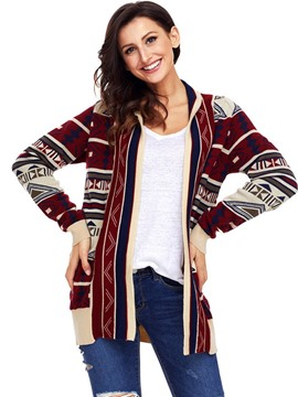 Ericdress Print Regular Regular Long Sleeve Loose Sweater