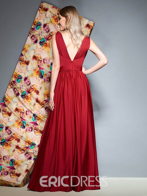 Ericdress Floor-Length Split-Front A-Line Evening Dress