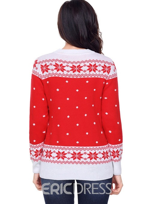 Ericdress Regular Print Regular Winter Standard Sweater