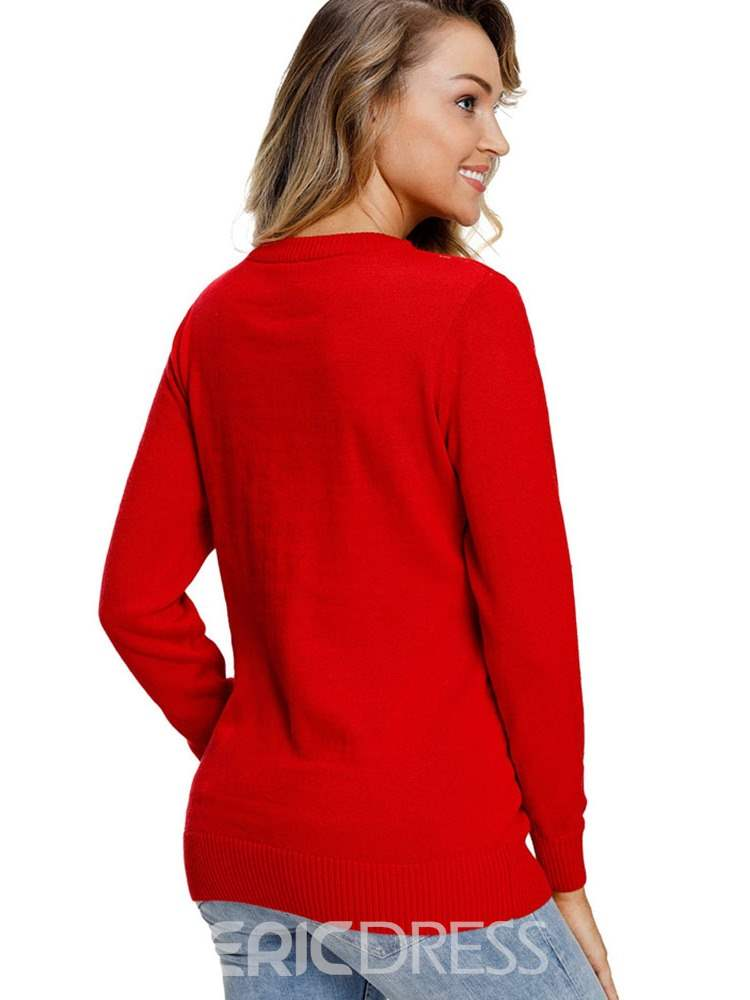 Ericdress Patchwork Regular Thin Standard Winter Sweater