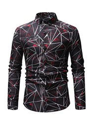 Ericdress Geometric Pattern Printed Mens Casual Shirts