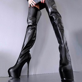 Ericdress Back Zip Round Toe Women's Thigh High Boots