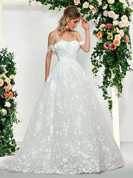 Ericdress Cap Sleeves Strapless Church Wedding Dress