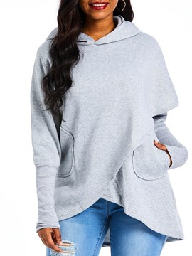 Ericdress Plain Long Sleeve Fall Hoodie