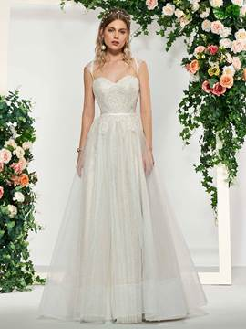Ericdress Sweetheart Lace Outdoor Wedding Dress