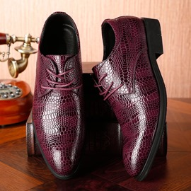 Ericdress Alligator Pattern Lace-Up Men's Dress Shoes