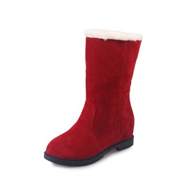 Ericdress Round Toe Plain Slip-On Women's Snow Boots