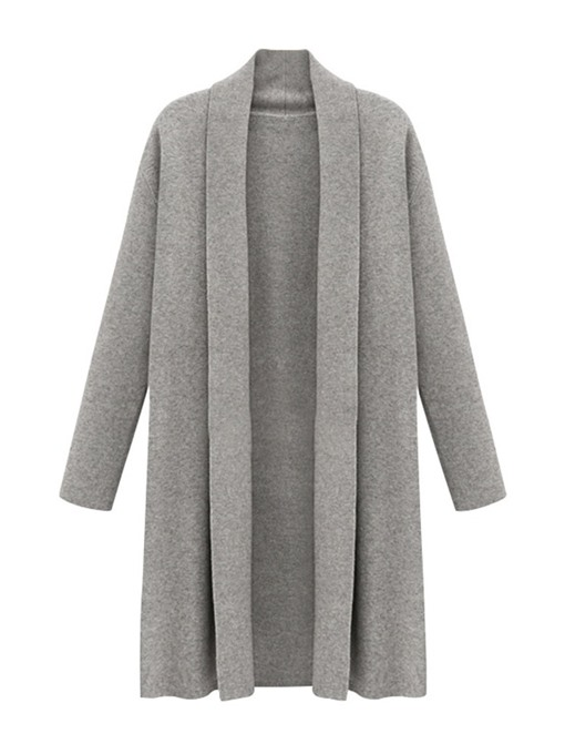 Ericdress Wrapped Long Lapel Winter Casual Trench Coat