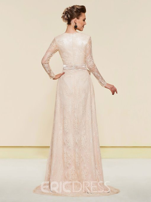Ericdress Sashes Long Sleeve Lace Mother Of The Bride Dress 2019
