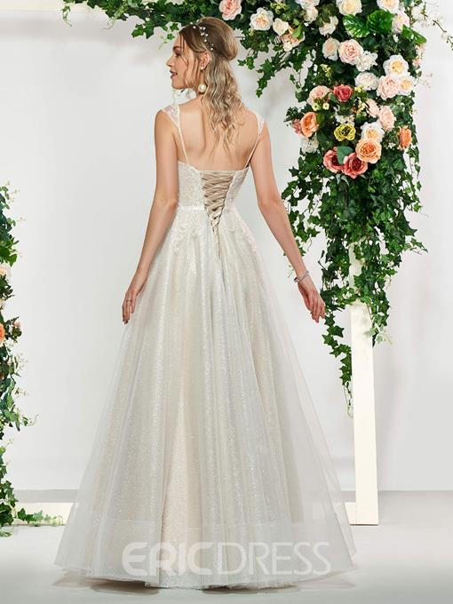Ericdress Sweetheart Lace Outdoor Wedding Dress 2019