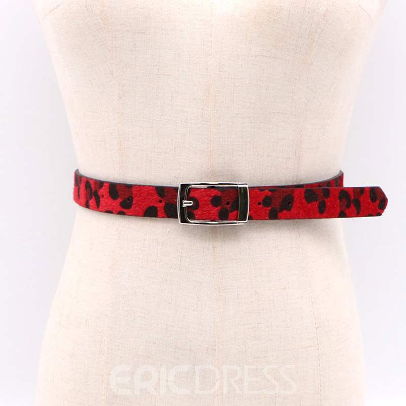 Ericdress Pin Buckle Leapard PU Belts