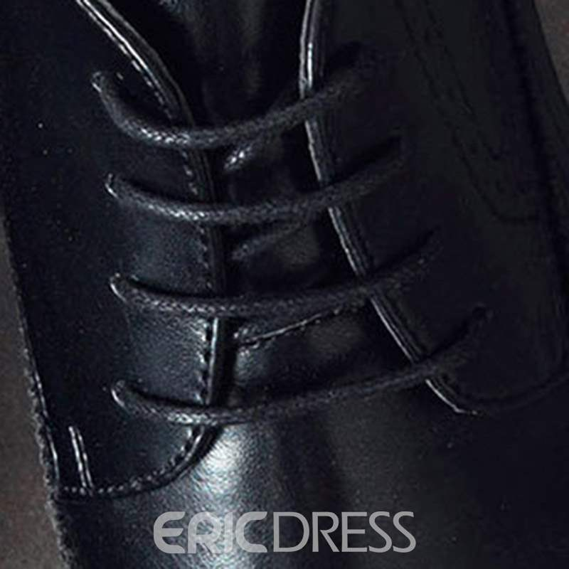 Ericdress Side Zipper Pointed Toe Men's Boots