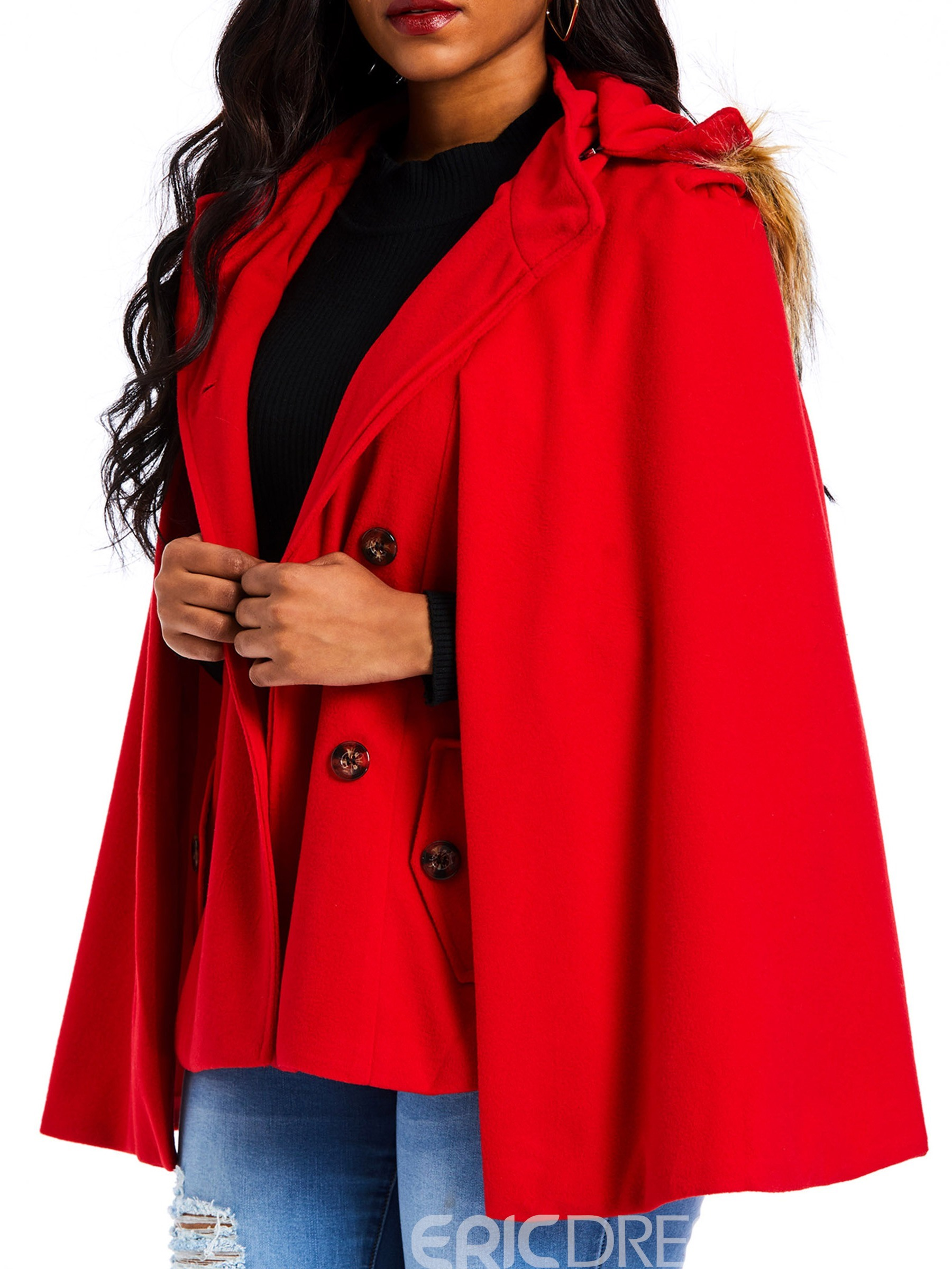 Ericdress Plain Casual Polyester Fall Cape
