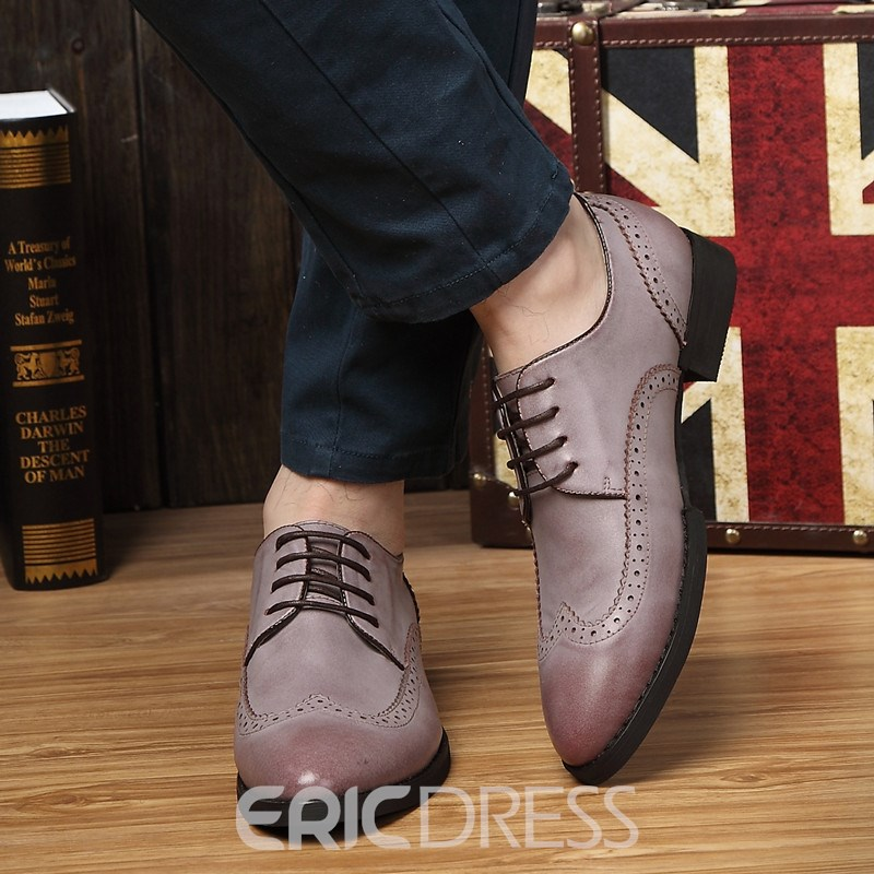 Ericdress Low-Cut Upper Lace-Up Men's Dress Shoes