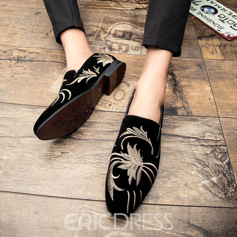 Ericdress Embroidery Slip-On Men's Loafers