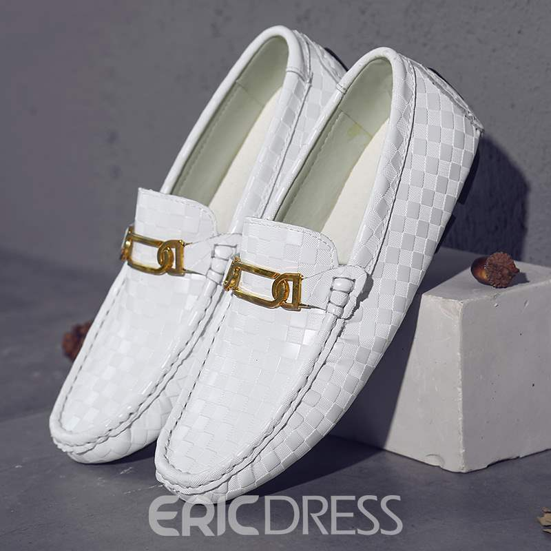 Ericdress Plaid Slip-On Round Toe Men's Loafers