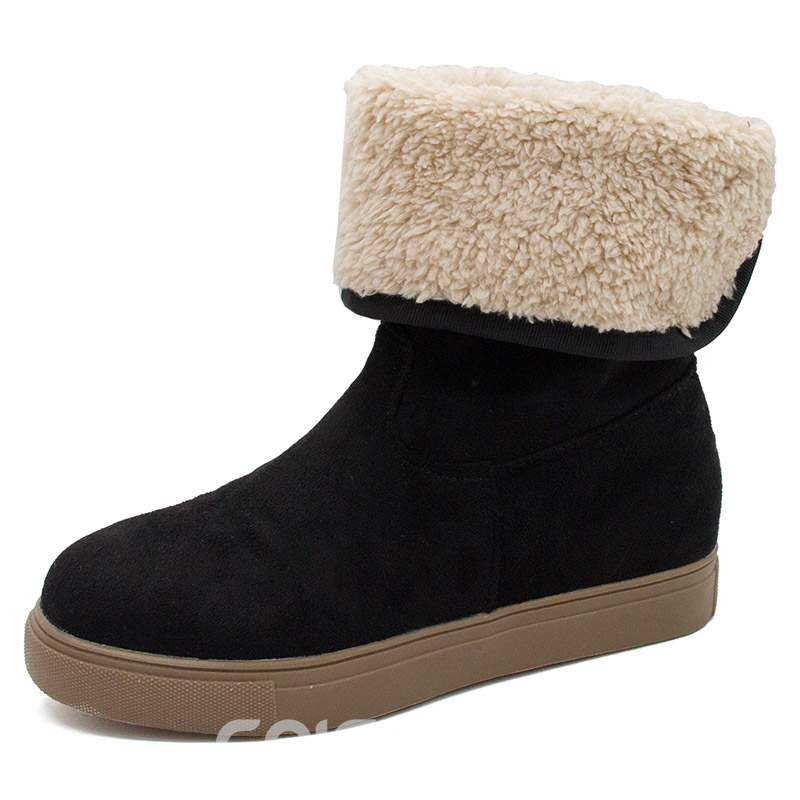 Ericdress Round Toe Plain Platform Women's Snow Boots