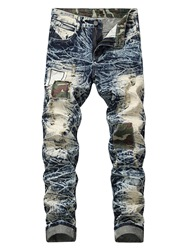 Ericdress Patchwork Camouflage Mens Casual Jeans фото