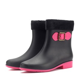 Ericdress Block Heel Round Toe Slip-On Women's Hunter Boots