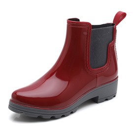Ericdress Elastic Plain Block Heel Women's Hunter Boots