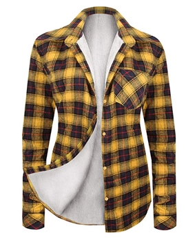 Ericdress Regular Lapel Plaid Mid-Length Long Sleeve Blouse
