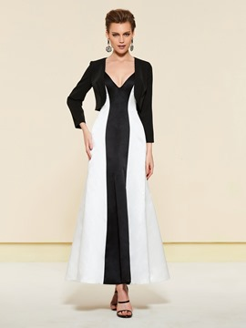 Ericdress Long Sleeves Black And White Wedding Party Dress