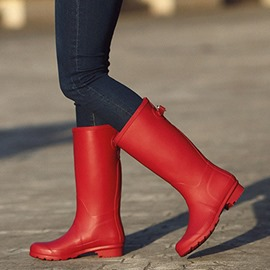 Ericdress Plain Slip-On Block Heel Women's Hunter Boots