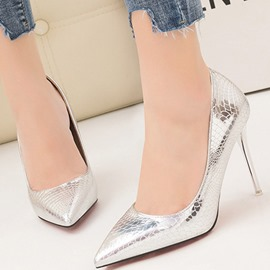 Ericdress Slip-On Pointed Toe Stiletto Heel Women's Pumps