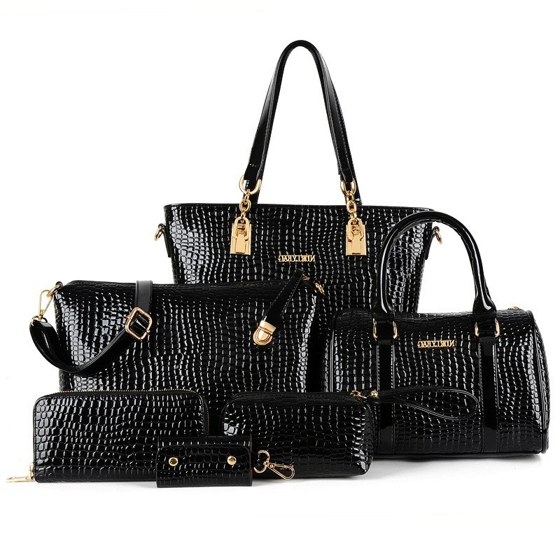 Ericdress solide couleur Croco Tote (6 sacs)