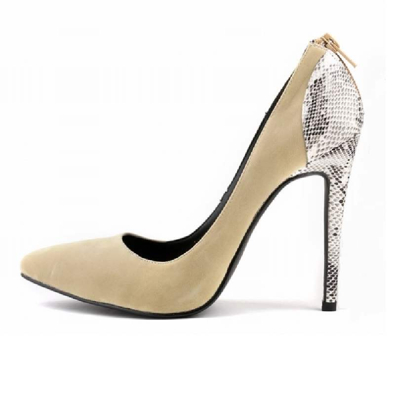 Ericdress Serpentine Zipper Pointed Toe Stiletto Heel Pumps
