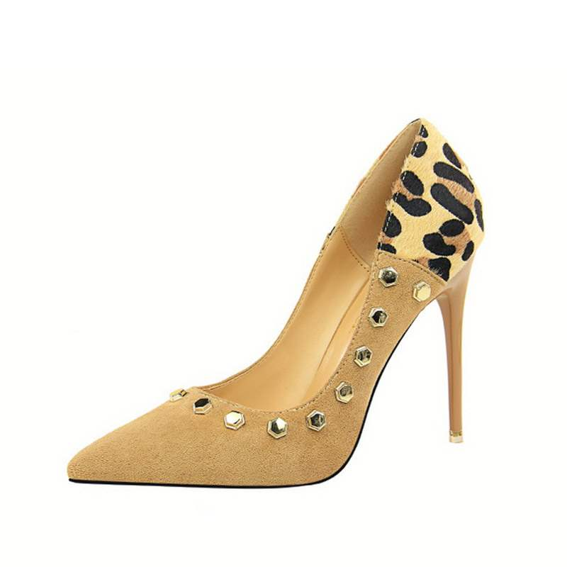 Ericdress Leopard Print Pointed Toe Slip-On Stiletto Heel Women's Pumps