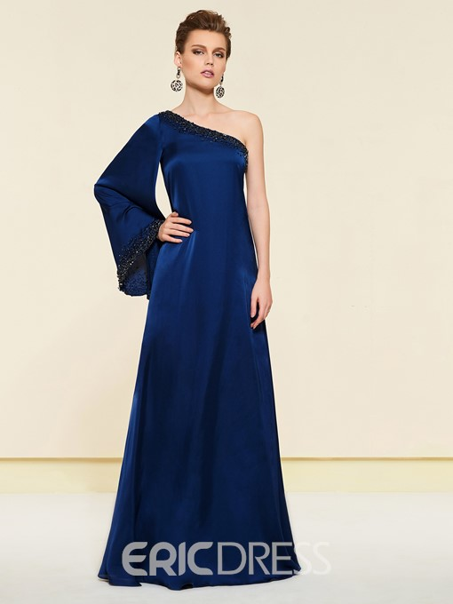 Ericdress One Shoulder Beading Mother of the Bride Dress 2019