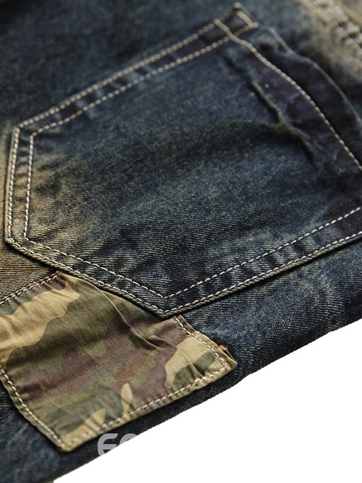 Ericdress Patchwork Camouflage Mens Casual Jeans