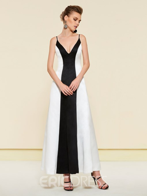 Ericdress Long Sleeves Black And White Wedding Party Dress 2019