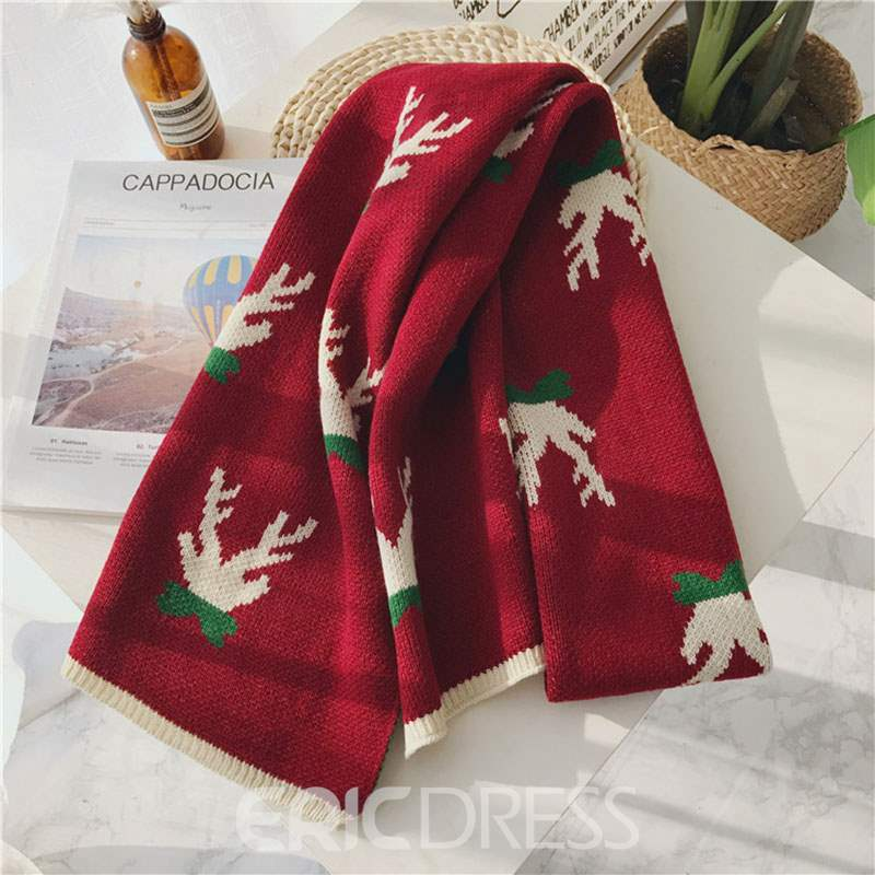 Ericdress Elk Winter Scarf