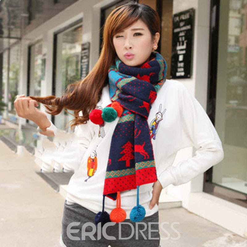 Ericdress Christmas Ball Scarf
