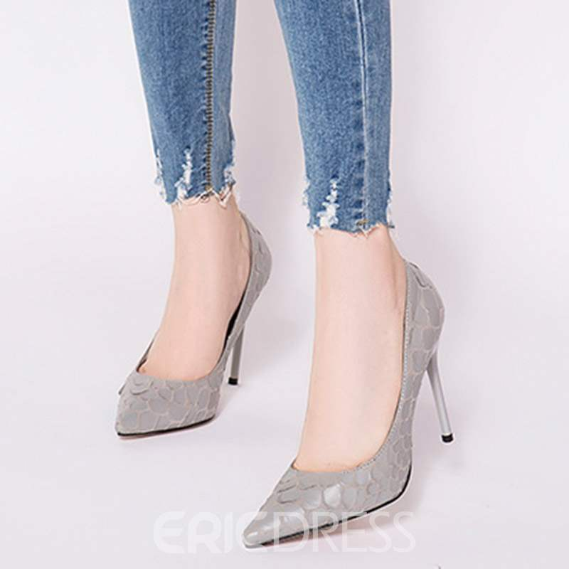 Ericdress PU Slip-On Stiletto Heel Pointed Toe Pumps