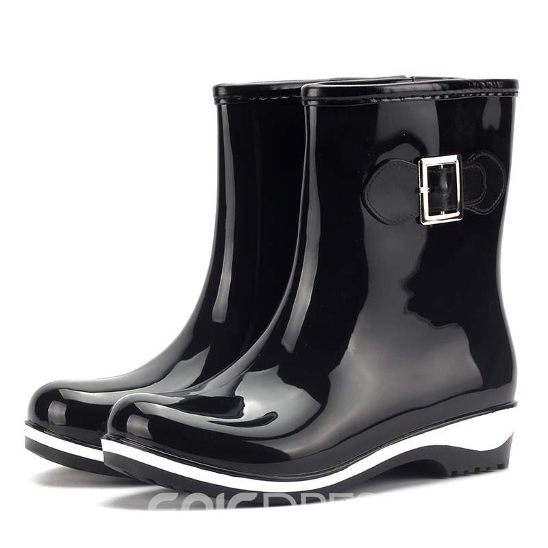 Ericdress Slip-On Round Toe Women's Hunter Boots