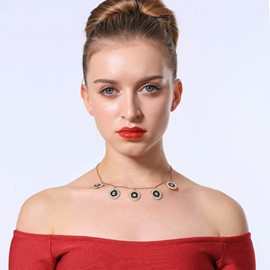 Ericdress Diamante Female Necklace