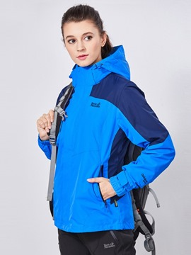 Ericdress Cotton/Polyester All Seams Taped Windproof Skiing Color Block Female Tops